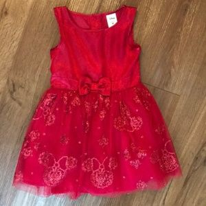 Holiday Red Glitter Disney Minnie Mouse Dress 4